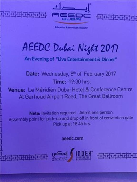 AEEDC Dubai night 2017